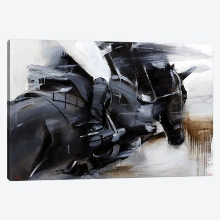 Black Lightning Canvas Print #TAY89} by Tatyana Yabloed Art Print