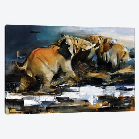 Clash of the Titans Canvas Print #TAY90} by Tatyana Yabloed Canvas Wall Art