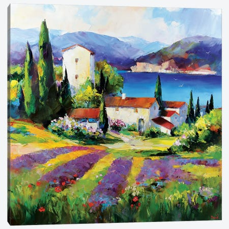 Loving Yours Hot Days 3-Piece Canvas #TAY93} by Tatyana Yabloed Canvas Wall Art