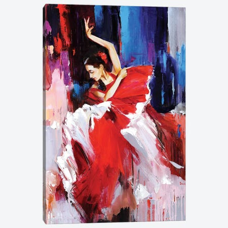 Shadows Red Canvas Print #TAY96} by Tatyana Yabloed Art Print