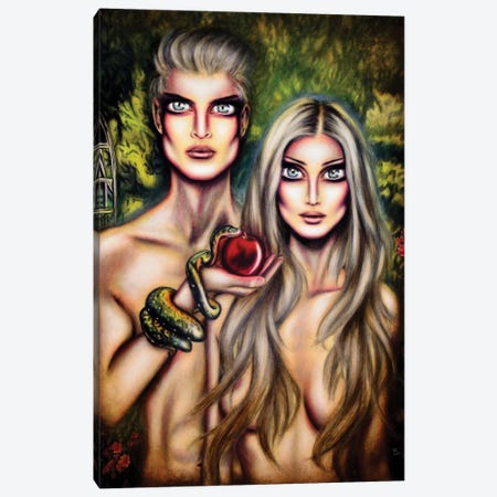 Adam And Eve Canvas Print #TAZ1} by Tiago Azevedo Canvas Print