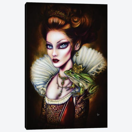The Frog Princess Canvas Print #TAZ28} by Tiago Azevedo Canvas Wall Art