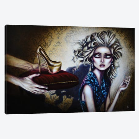 Cinderella Canvas Print #TAZ4} by Tiago Azevedo Canvas Wall Art