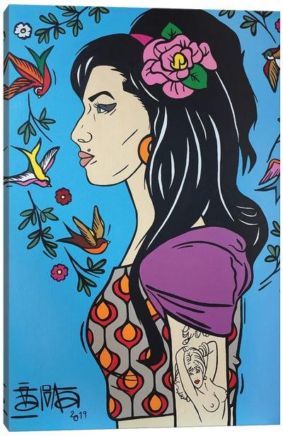Amy Winehouse III Canvas Art Print