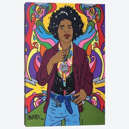 Jimi Hendrix Canvas Print #TBB2} by Talita Barbosa Canvas Print