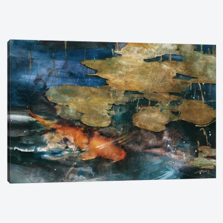 Koi Canvas Print #TBE2} by Theo Beck Canvas Art