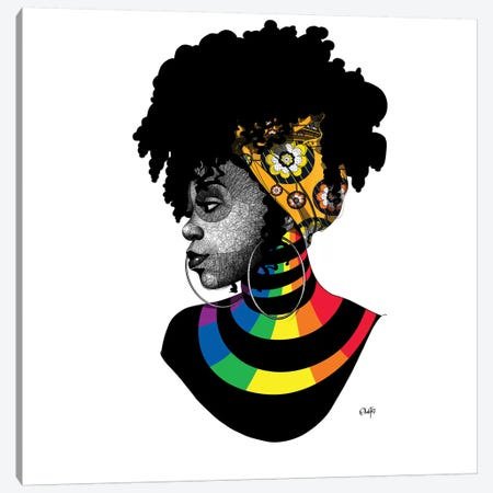 On Stripes Canvas Print #TBJ28} by Ohab TBJ Canvas Artwork