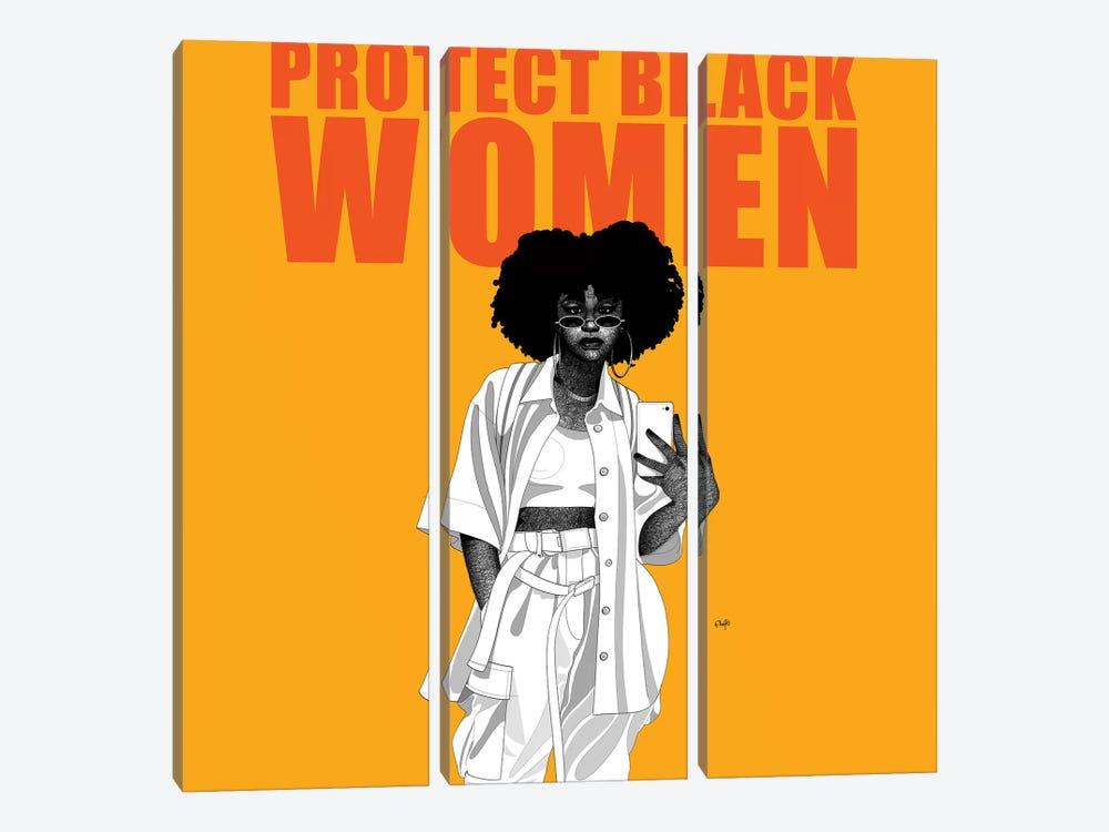 Protect Black Women by Ohab TBJ 3-piece Art Print