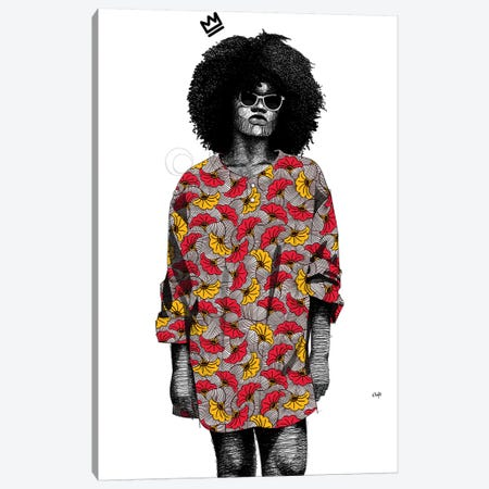 Quirky Black Girl III Canvas Print #TBJ30} by Ohab TBJ Canvas Art Print