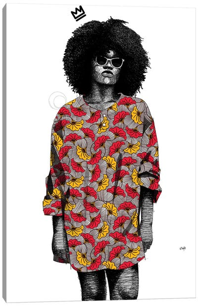 Quirky Black Girl III Canvas Art Print