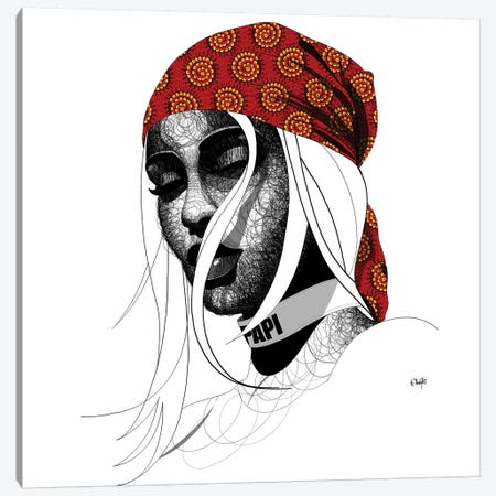 Samantha Canvas Print #TBJ33} by Ohab TBJ Art Print