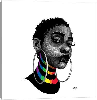 On Stripes 1 Canvas Art Print