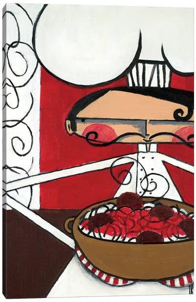 Spaghetti & Meatballs Canvas Art Print