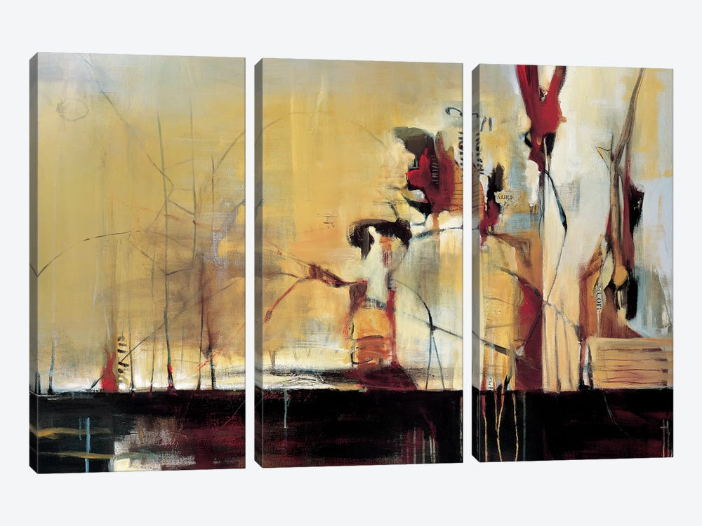 Sculpture Garden by Terri Burris 3-piece Canvas Art Print