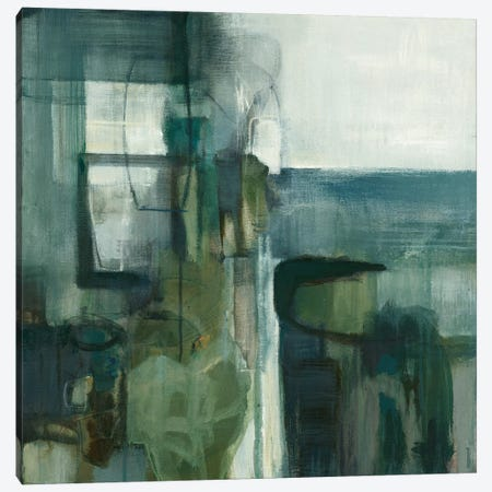 Blue Geometry 3-Piece Canvas #TBU2} by Terri Burris Canvas Art Print