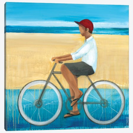 Bike Ride on the Boardwalk I Canvas Print #TBU33} by Terri Burris Canvas Artwork