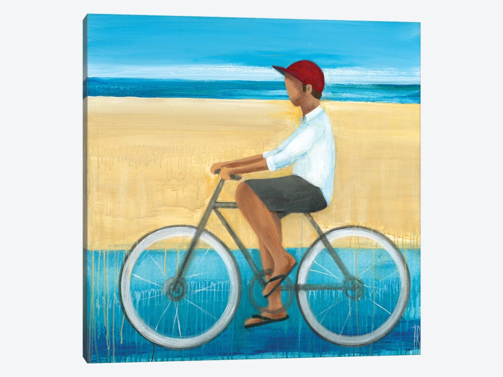 Bike Ride on the Boardwalk I by Terri Burris 1-piece Canvas Art Print