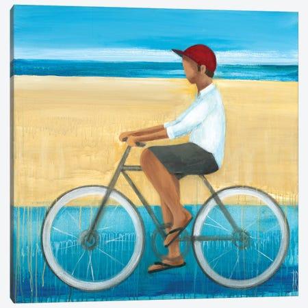 Bike Ride on the Boardwalk I Canvas Print #TBU33} by Terri Burris Canvas Artwork