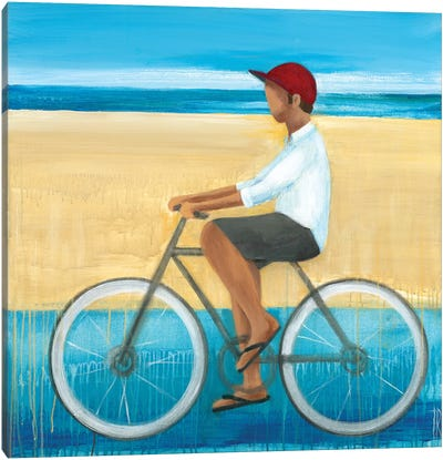 Bike Ride on the Boardwalk I Canvas Art Print