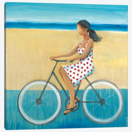 Bike Ride on the Boardwalk II Canvas Print #TBU34} by Terri Burris Canvas Print