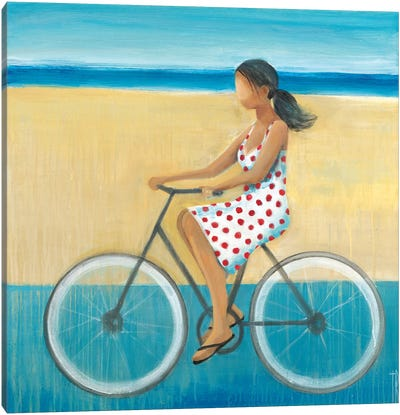 Bike Ride on the Boardwalk II Canvas Art Print