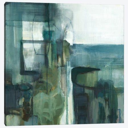 Blue Geometry Canvas Print #TBU39} by Terri Burris Canvas Wall Art