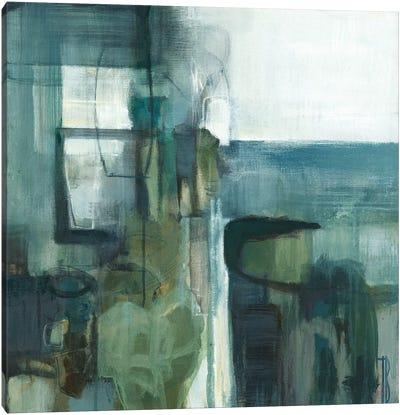 Blue Geometry Canvas Art Print