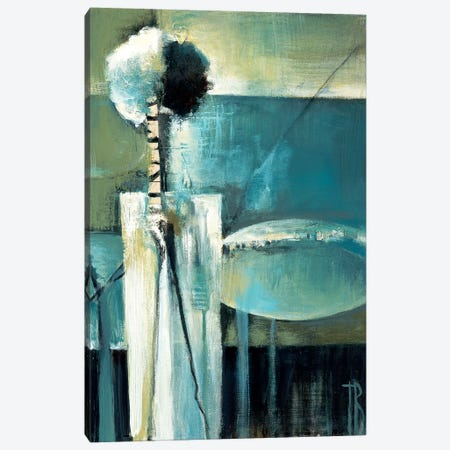 Blue Modern II Canvas Print #TBU41} by Terri Burris Art Print
