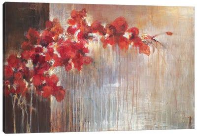 Crimson Flora Canvas Art Print