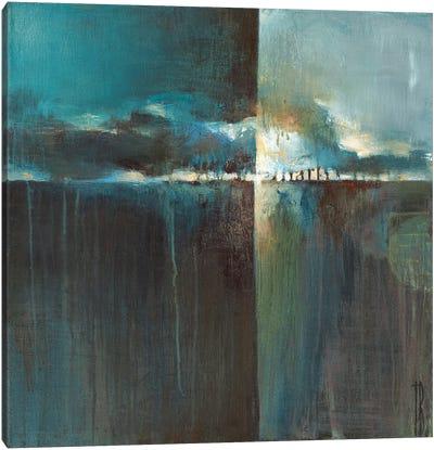 Crystal Blue Horizon  Canvas Art Print