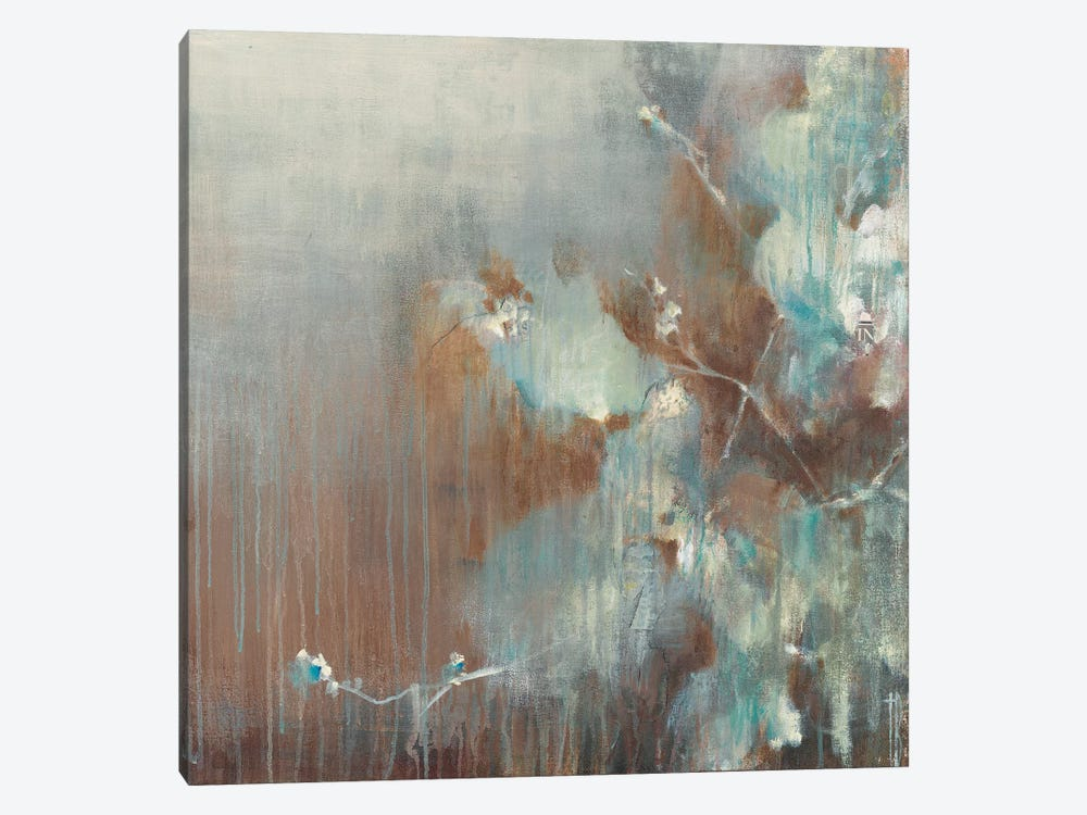 Flowers in the Morning Fog by Terri Burris 1-piece Canvas Print