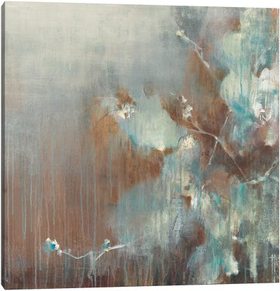 Flowers in the Morning Fog Canvas Art Print