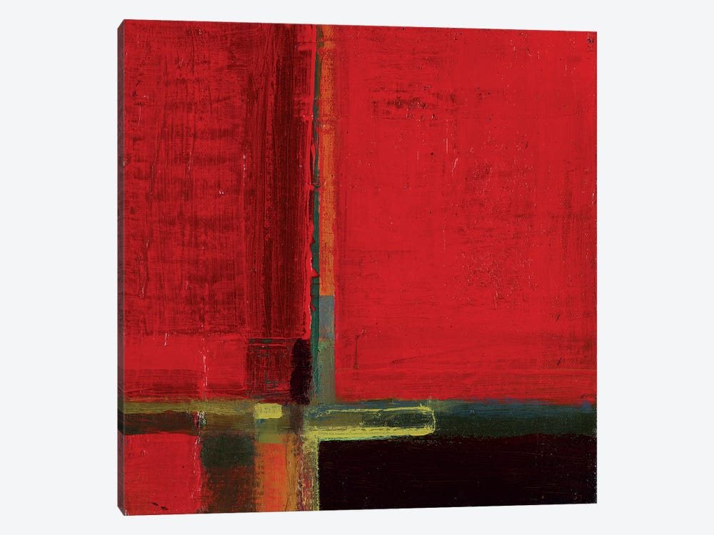 Perspectives in Color Red by Terri Burris 1-piece Canvas Art