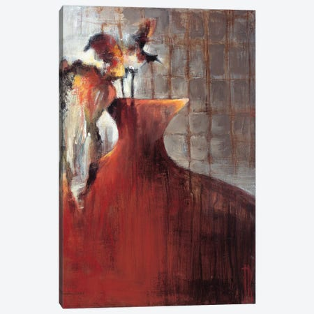 Persimmon Vase I Canvas Print #TBU9} by Terri Burris Canvas Art Print