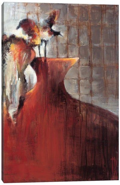 Persimmon Vase I Canvas Art Print