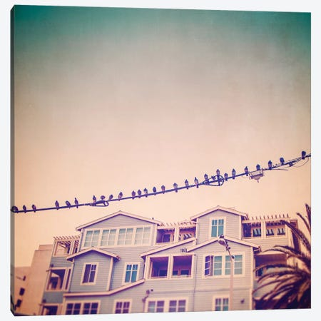 Birds on Wires I Canvas Print #TBW1} by Thomas Brown Art Print