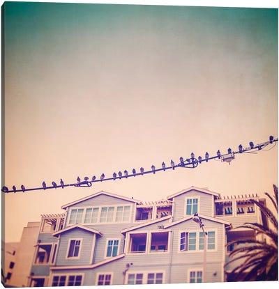 Birds on Wires I Canvas Art Print