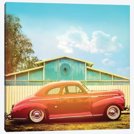 Vintage Ride II 3-Piece Canvas #TBW28} by Thomas Brown Art Print