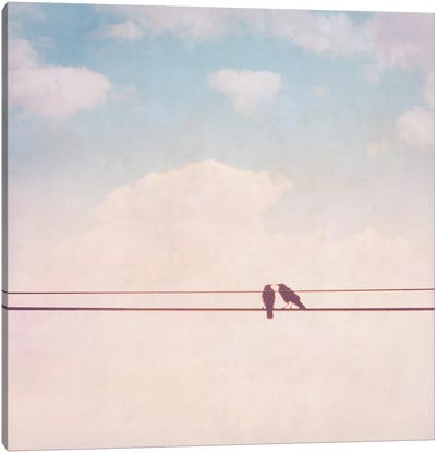 Birds on Wires II Canvas Art Print