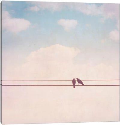Birds on Wires II Canvas Art Print