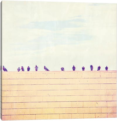 Birds on Wires III Canvas Art Print
