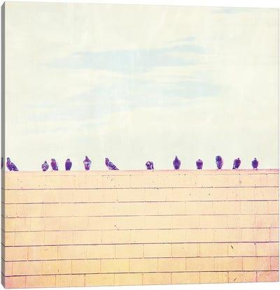 Birds on Wires III Canvas Art Print