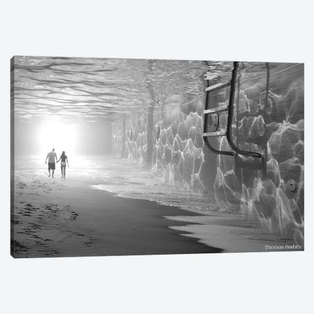 Sunbathing Canvas Print #TBY24} by Thomas Barbey Canvas Wall Art