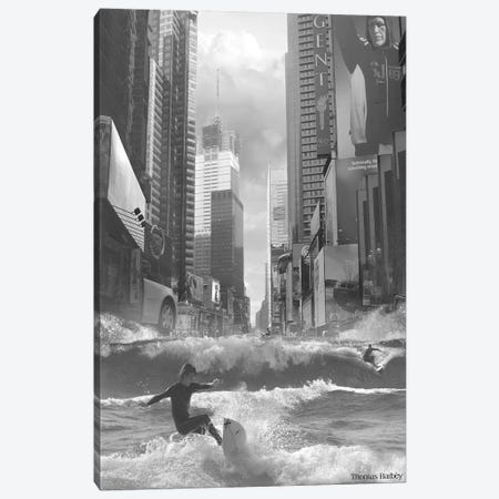 Swell Time in Town Canvas Print #TBY25} by Thomas Barbey Canvas Art