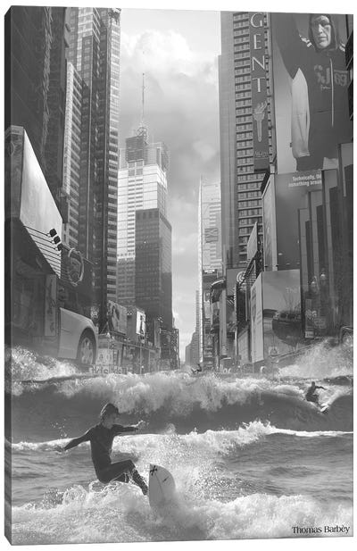 Swell Time in Town Canvas Art Print