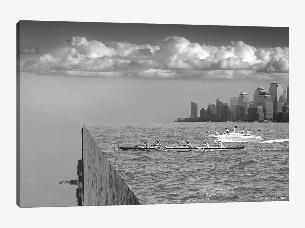 Very Sharp Left by Thomas Barbey 1-piece Canvas Artwork