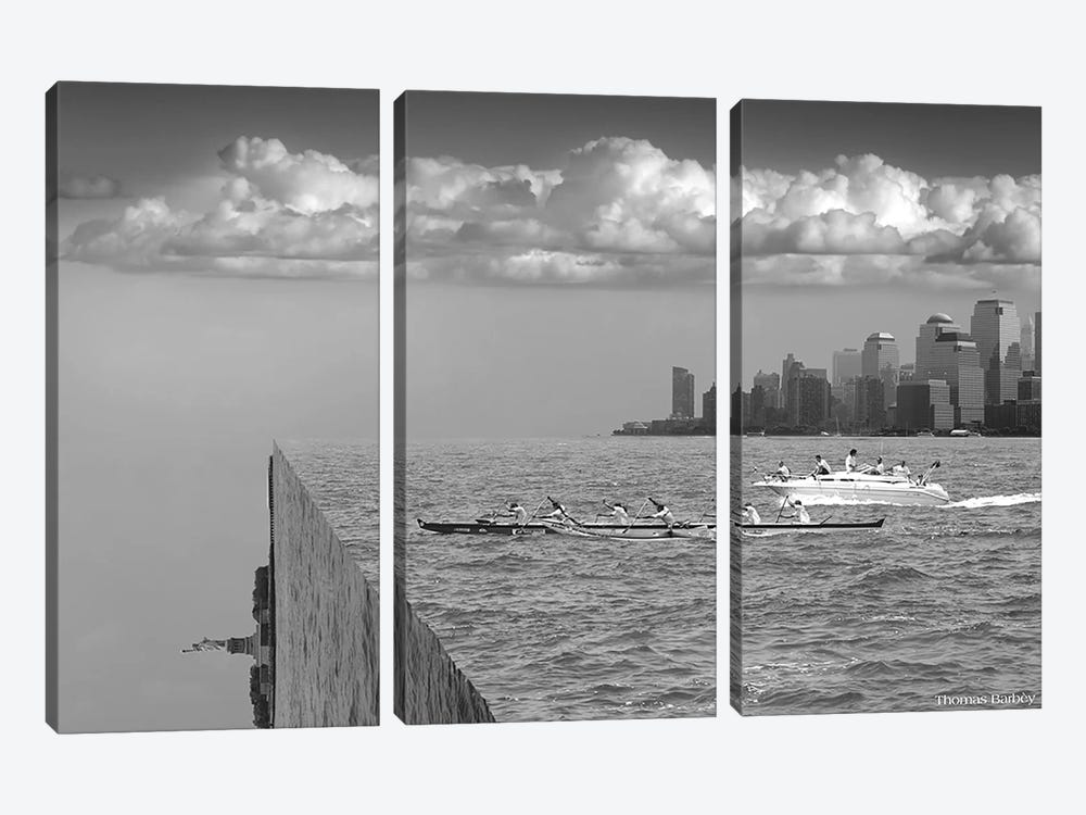 Very Sharp Left by Thomas Barbey 3-piece Canvas Wall Art