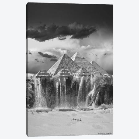 Camel Wash Station Canvas Print #TBY5} by Thomas Barbey Canvas Art