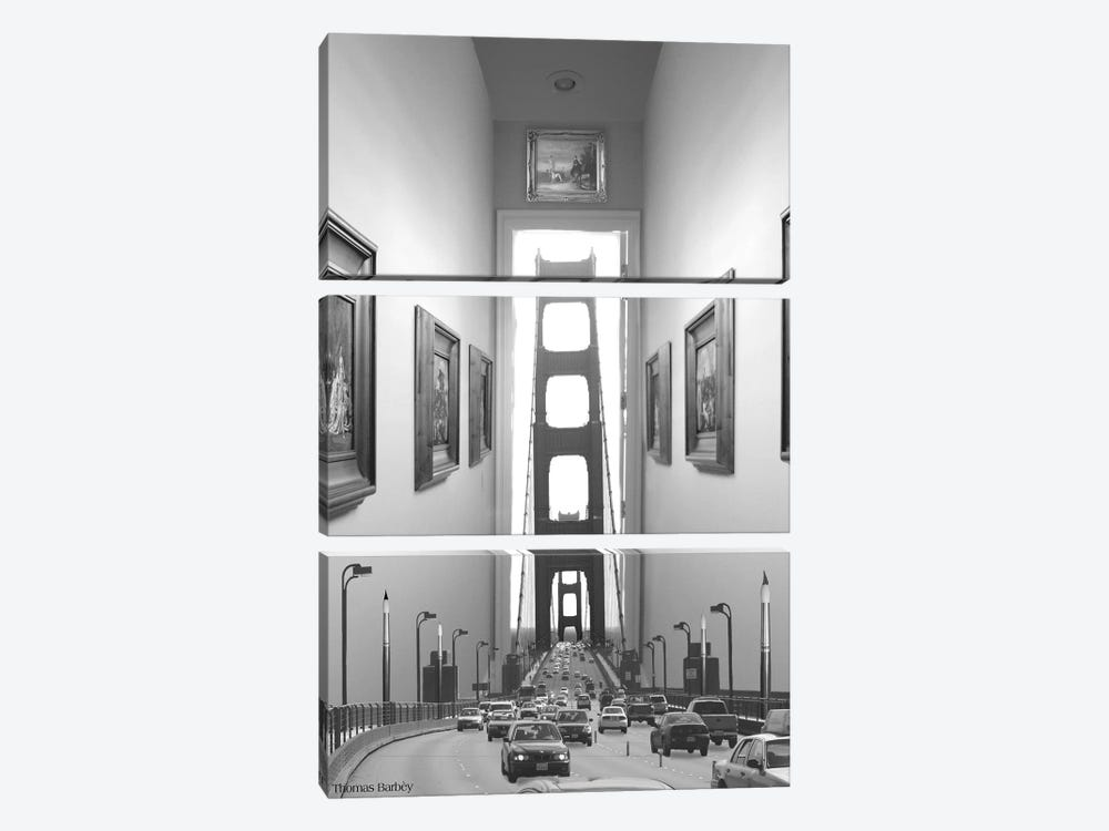 Drive Thru Gallery by Thomas Barbey 3-piece Canvas Art Print