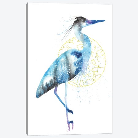 Cosmic Blue Heron Canvas Print #TCA10} by Tanya Casteel Canvas Art Print